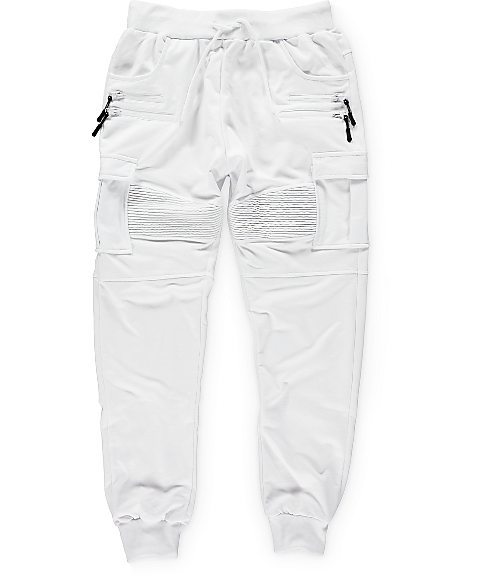 34bc3962a3 American Stitch White Cargo Terry Jogger Pants