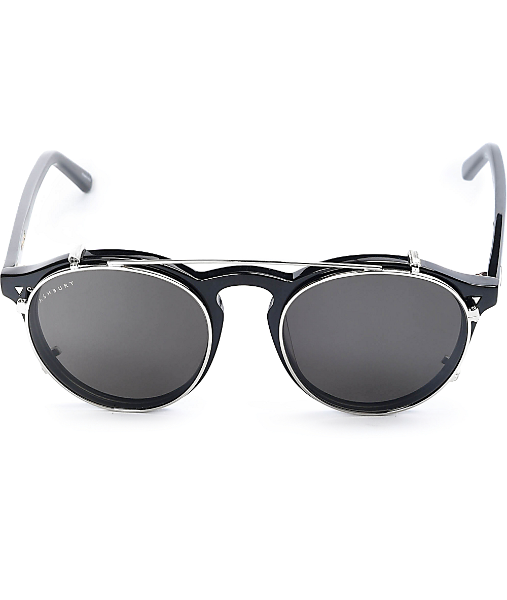 45d8823ed8b Ashbury Holiday Clip Black Sunglasses | Zumiez