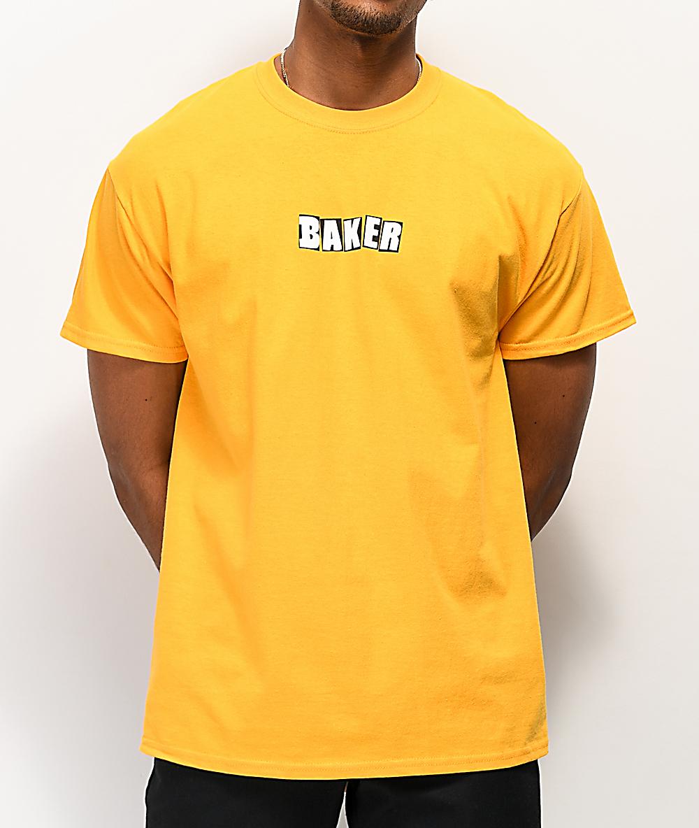 Baker Logo Gold T-Shirt | Zumiez
