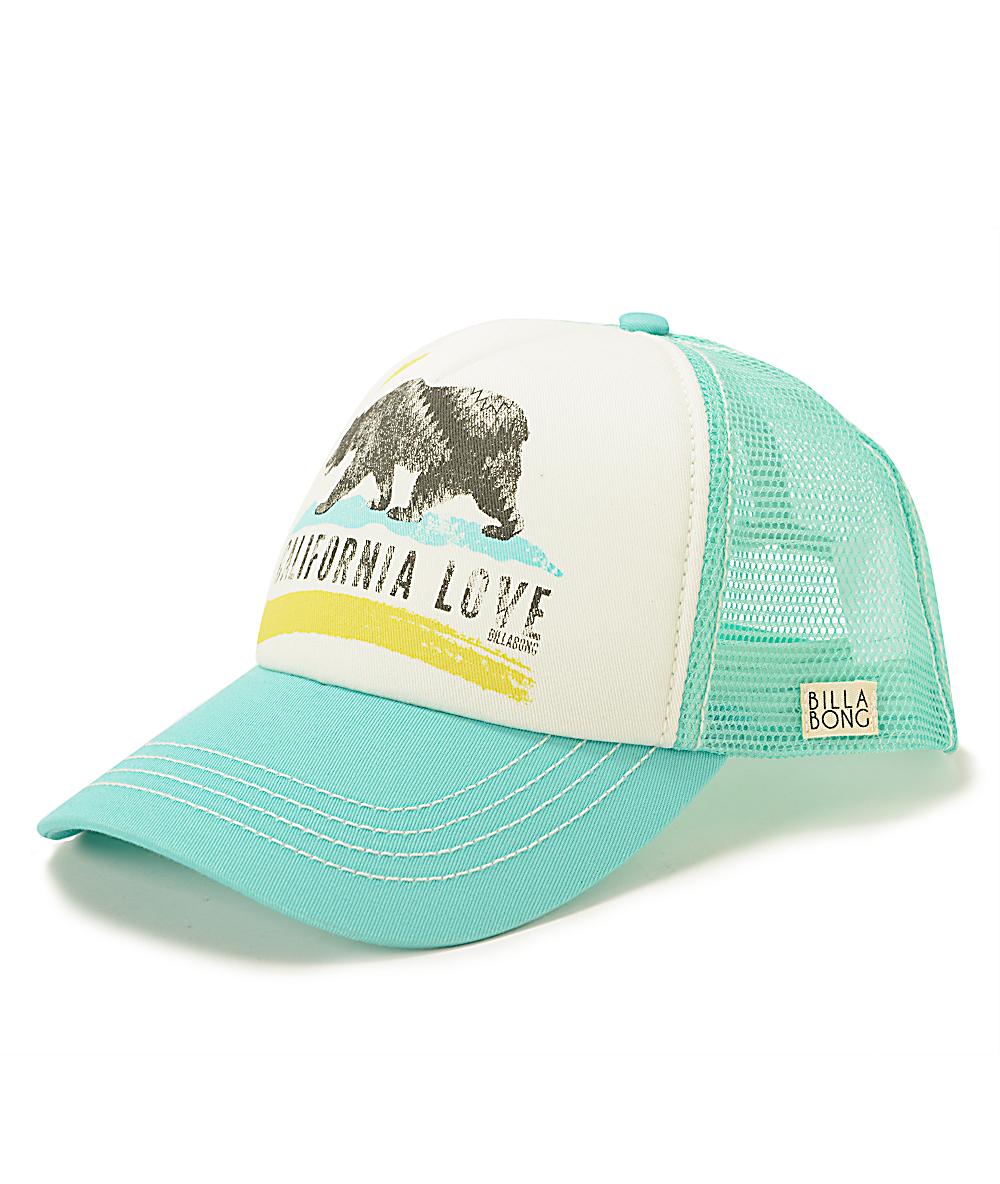 5f889093b Billabong Pitstop Cali Love Mint Trucker Hat