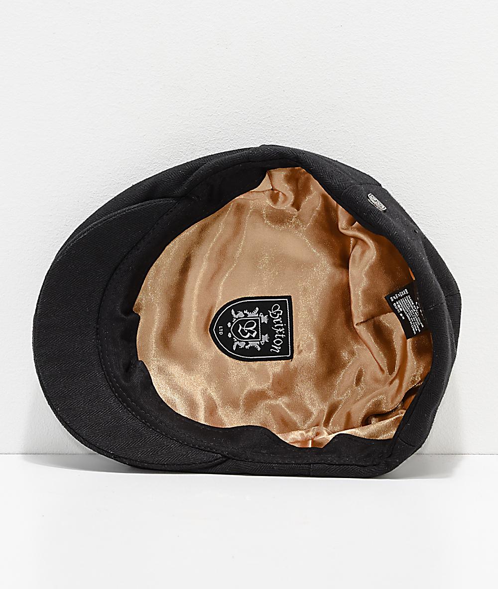 ed8fbc64f8b25 Brixton Hooligan Black Snap Hat   Zumiez