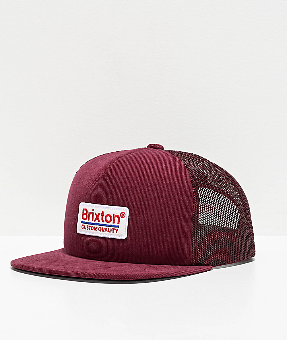 c86f7dadae14ad Brixton Palmer Maroon Trucker Hat | Zumiez