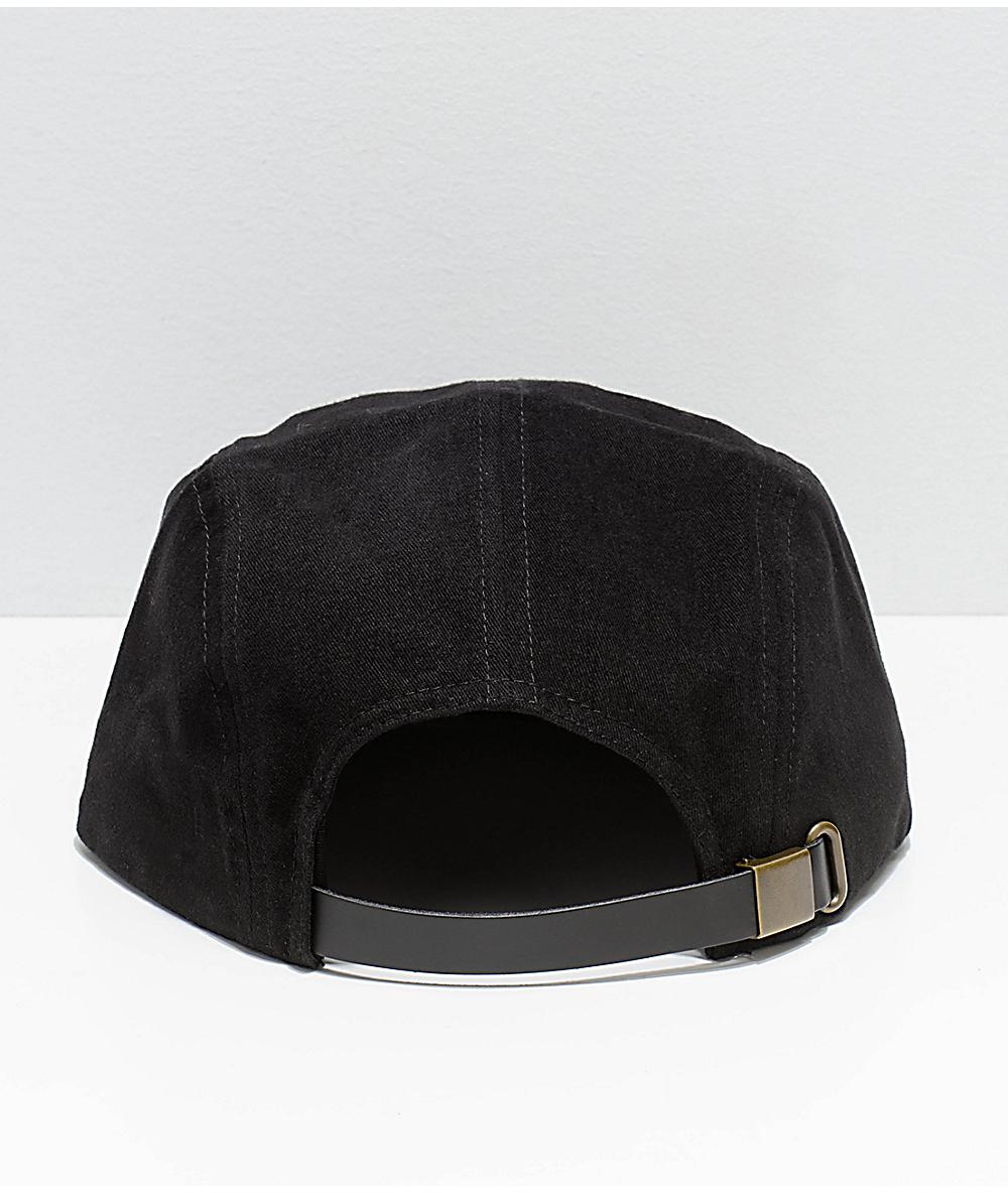 dc56f23a Brixton Potrero Black 5-Panel Hat   Zumiez