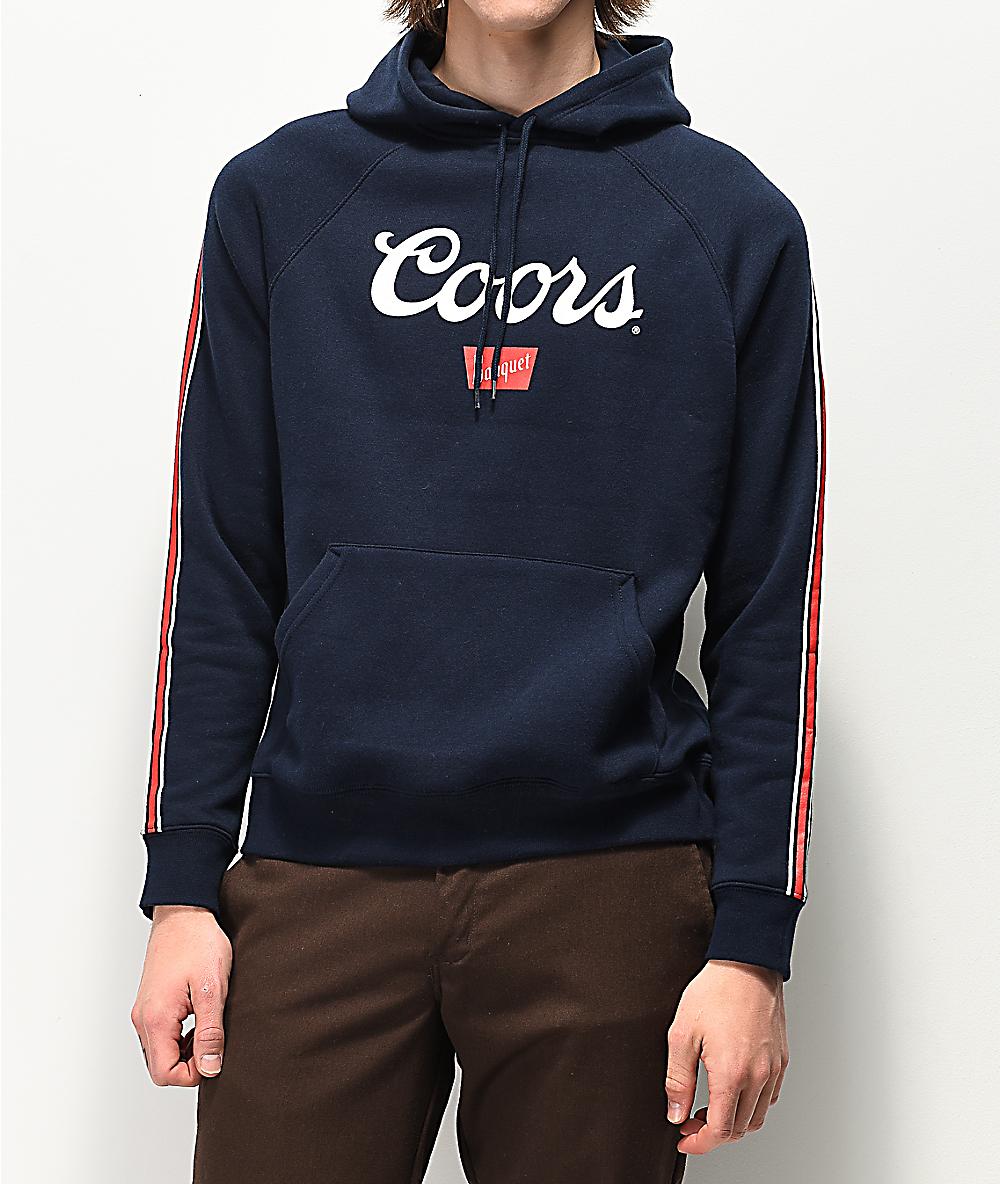 Coors Banquet Logo Hoodie Blue
