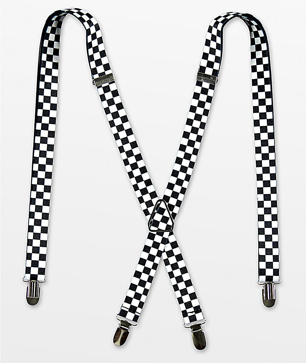 Blue Checkerboard Suspenders