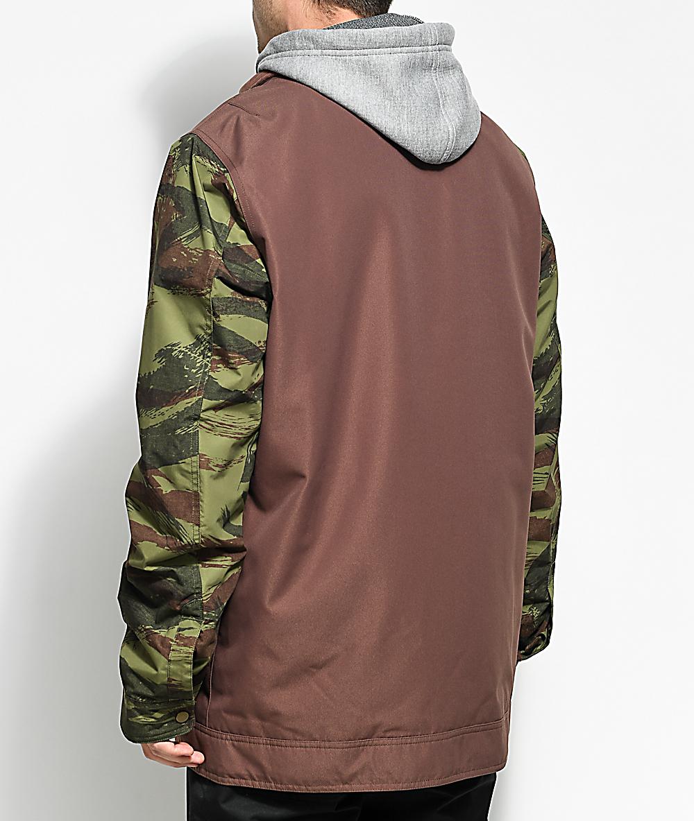 710073b31b Burton Dunmore Chestnut Camo 10K Snowboard Jacket