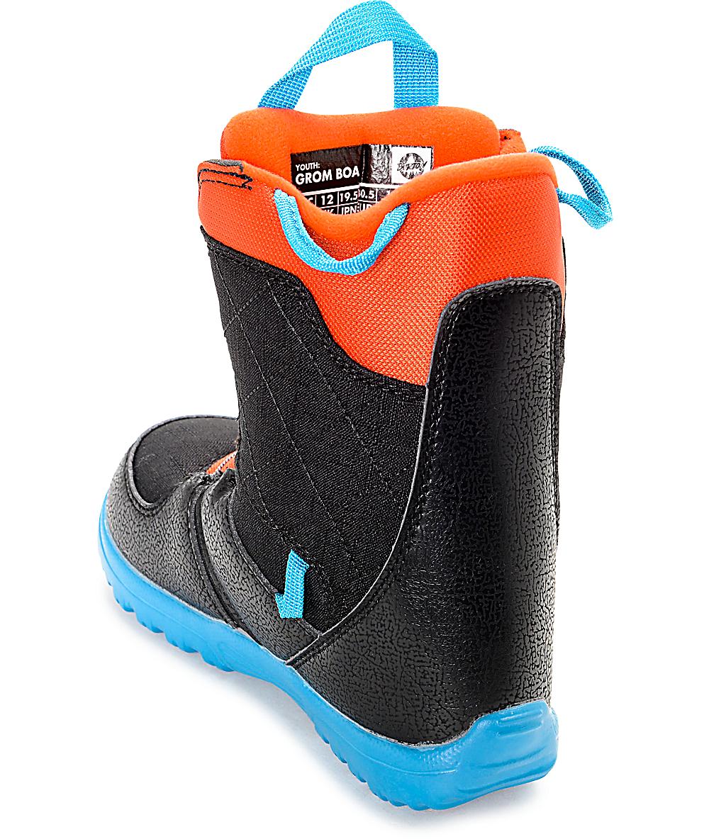 b43eb4d830a7 Burton Grom Boa Black & Blue Kids Snowboard Boots | Zumiez