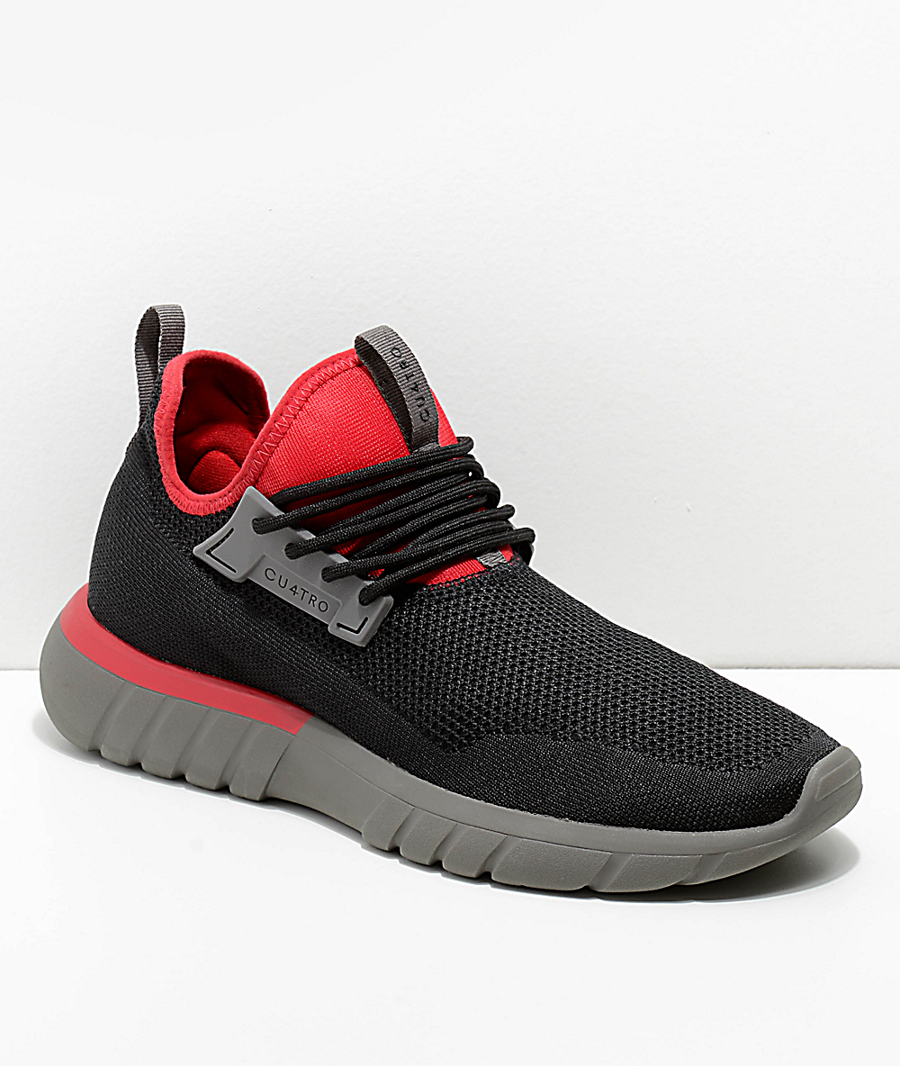 Cu4tro Bolt Zapatos Tejidos En Negro Y Rojo Zumiez