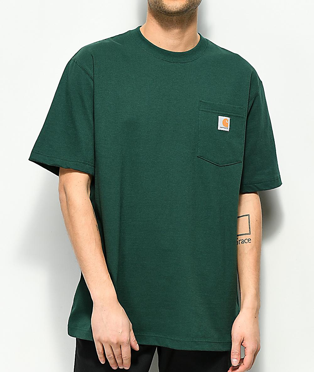 big selection of 2019 cheap sale shop for best Carhartt Workwear Hunter Green Pocket T-Shirt