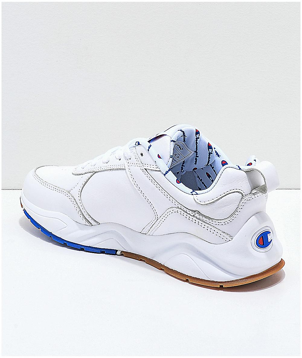 sélection premium 535cd 4213f Champion 93 Eighteen Big C White Leather Shoes