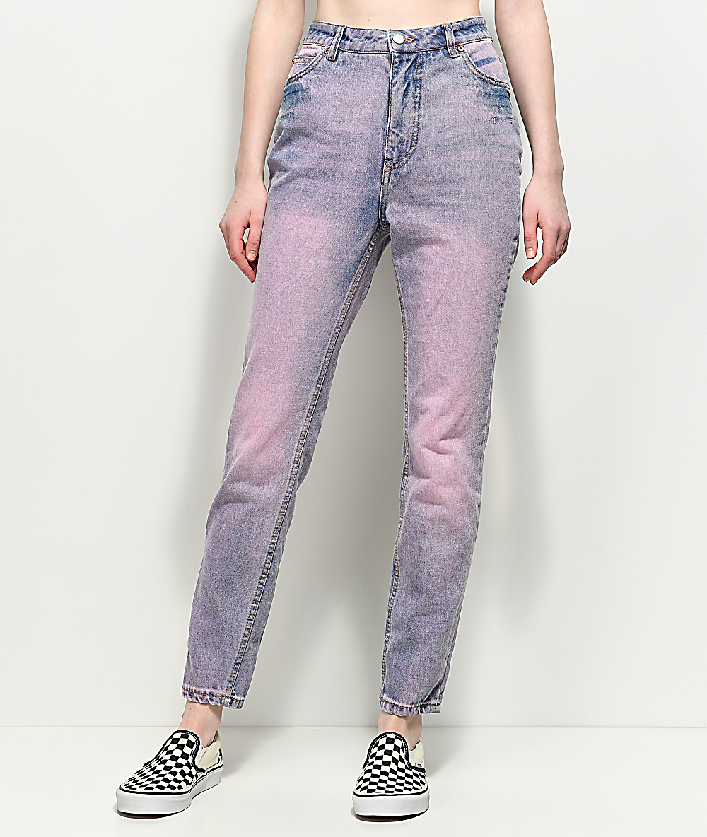 meticulous dyeing processes new design classic chic Cheap Monday Donna Light Pink Slim Mom Jeans