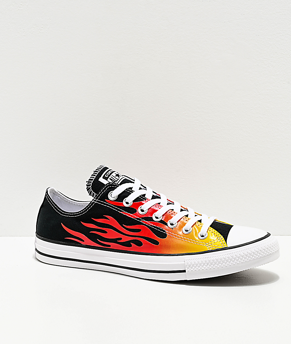 Converse Chuck Taylor All Star Ox Black Flame Shoes