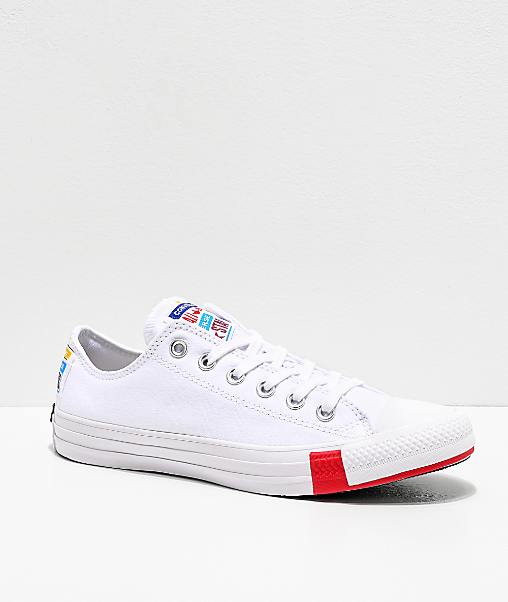 Converse Chuck Taylor All Star Ox Multi Logo White Shoes