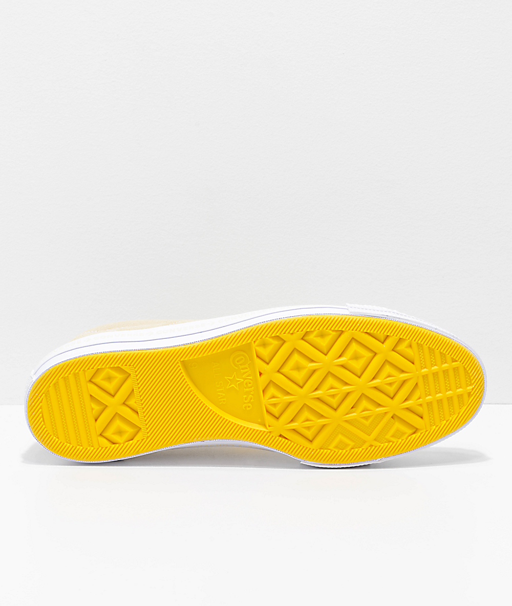 Converse One Star Pinstripe Vanilla, Solar Power & White Skate Shoes