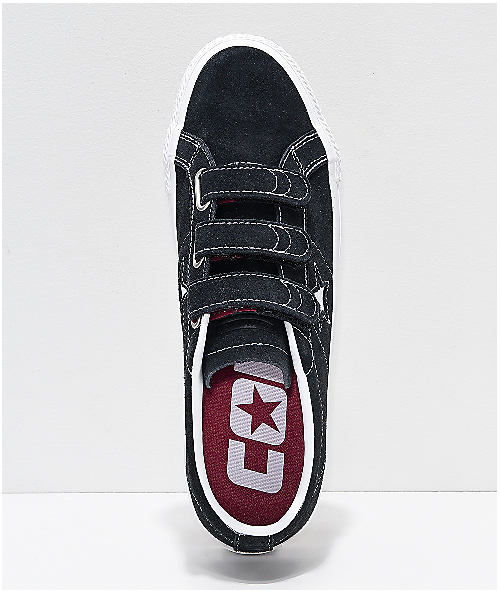 Converse White Shoes One Pro Blackamp; Star 3v Skate WE9eH2IDY