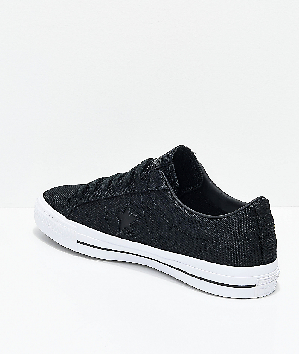 Converse One Star Pro Mike Anderson Black & White Skate Shoes