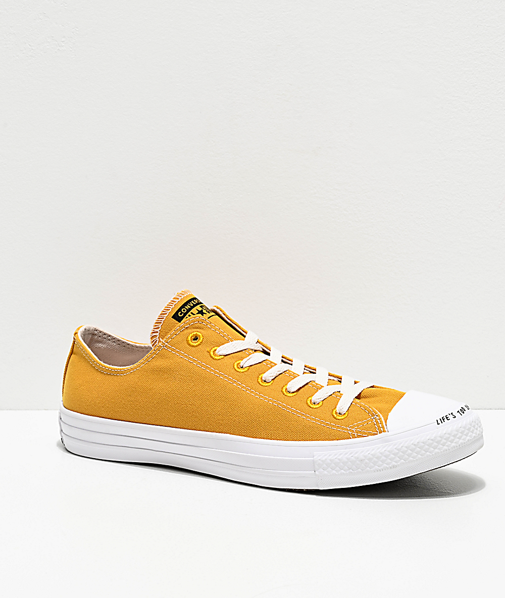 low priced 40fc5 2ddb7 Converse Renew CTAS Ox Gold Dart & White Shoes