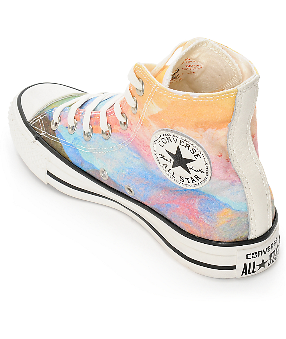 Converse Womens CTAS Photo Real Sunset High Top Shoes in