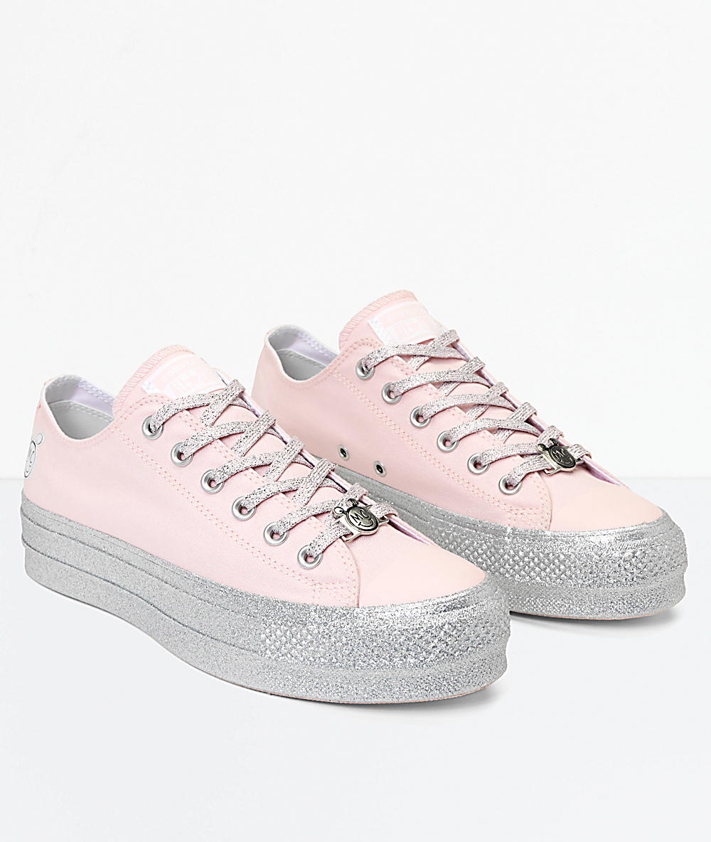 When Does Miley Cyrus X Converse Drop? The Flatform Glitter