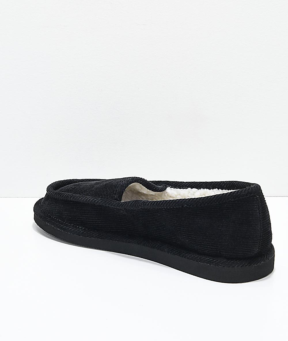 2713589993385 Cords Draper Black Slippers | Zumiez