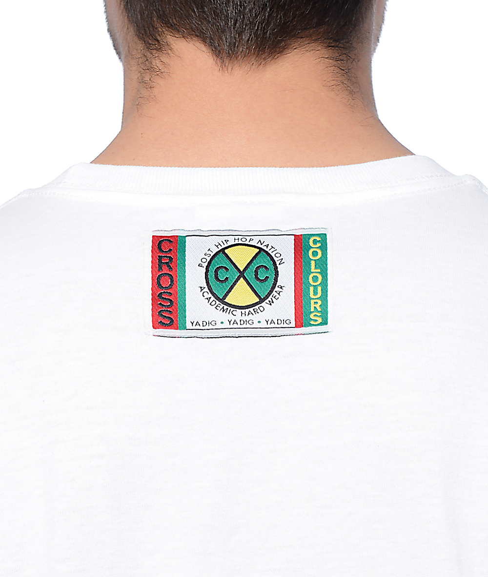 05648beb Cross Colours Left-Eye White T-Shirt | Zumiez