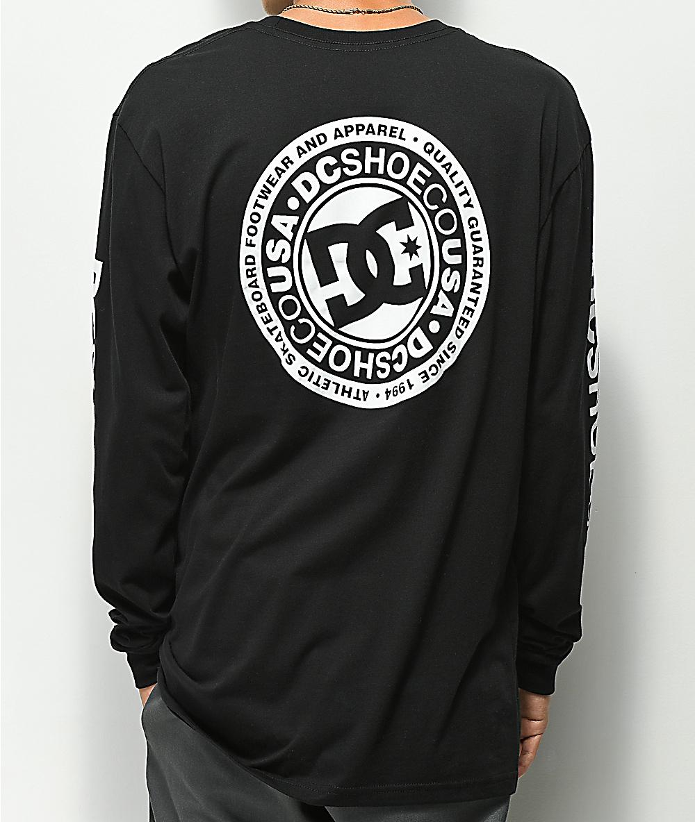 DC Boys T Shirt DC Circle Logo Black 100/% Cotton  DC Shoes Brand  DC