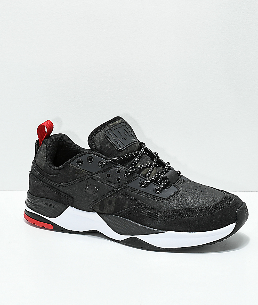 DC E. Tribeka Black & Camo Shoes