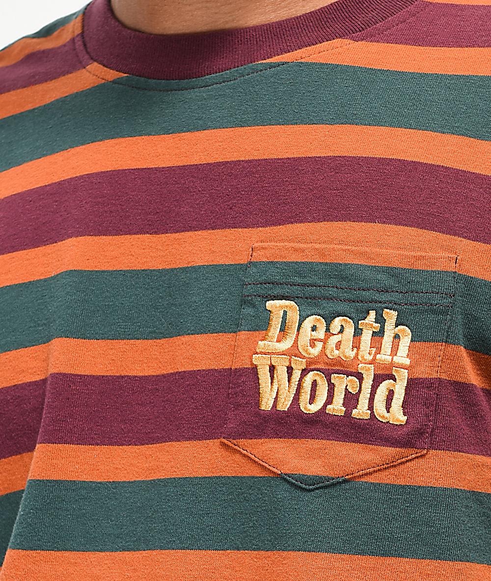 1faa35ee Deathworld Green, Purple & Orange Striped Long Sleeve Knit T-Shirt