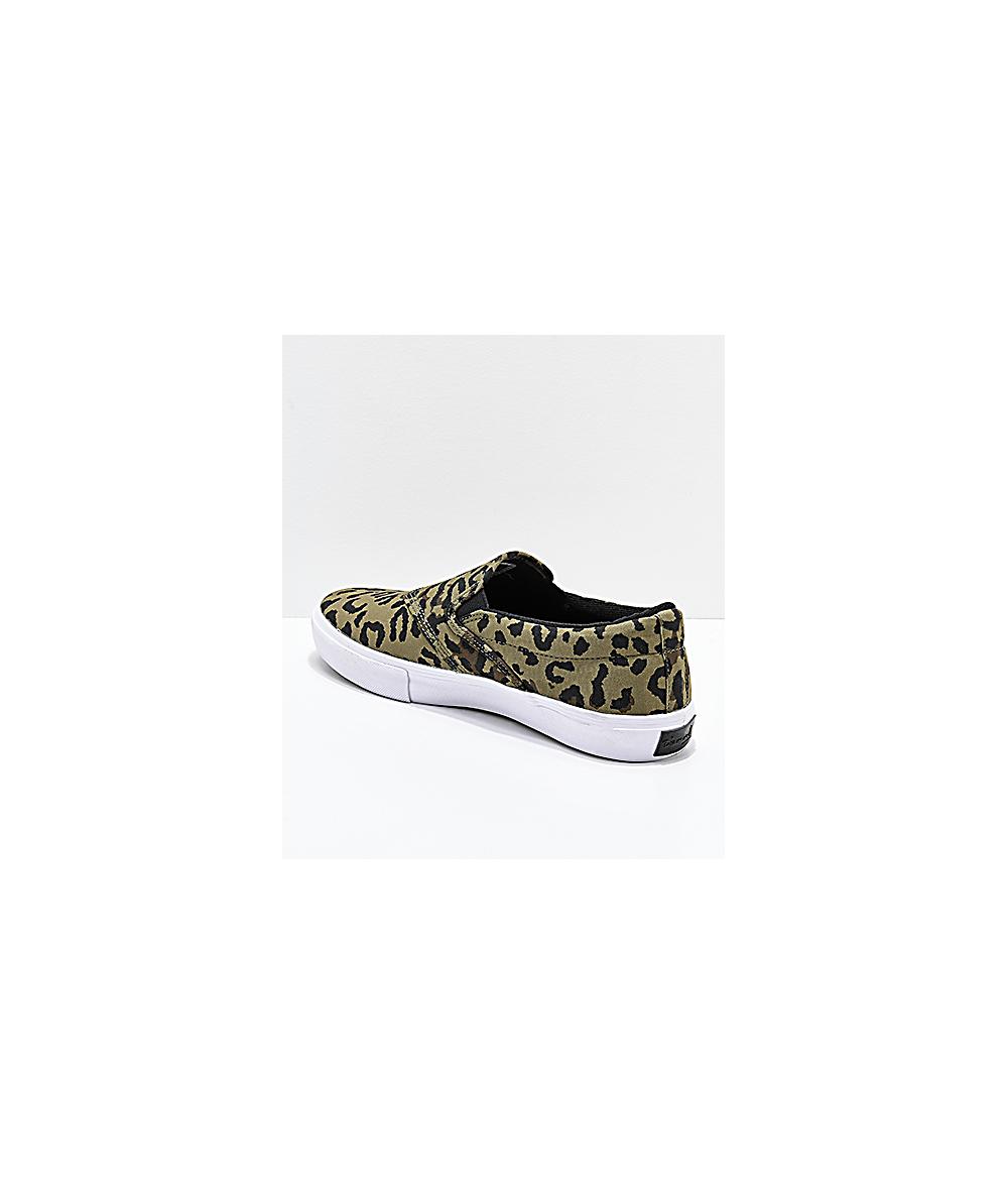 e7c2ff5c4 Diamond Supply Co. Cheetah & White Slip-on Skate Shoes | Zumiez