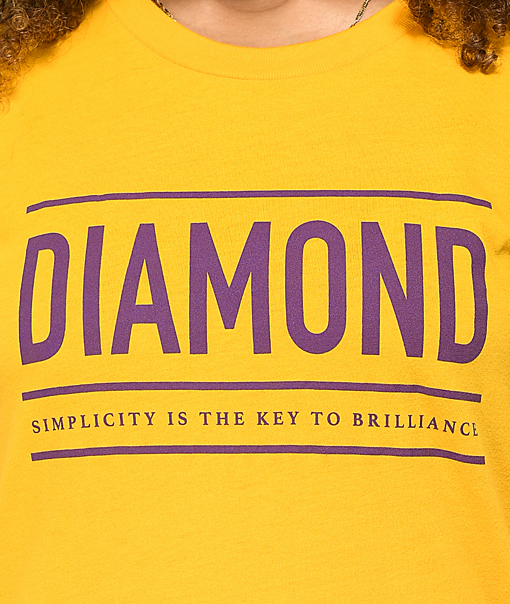 Diamond Supply Co  Subtitle Yellow T-Shirt