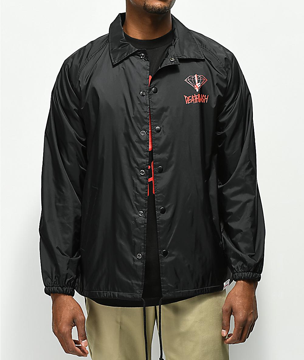 d1b8a9aee7d Diamond Supply Co. X Deathwish Black Coaches Jacket | Zumiez