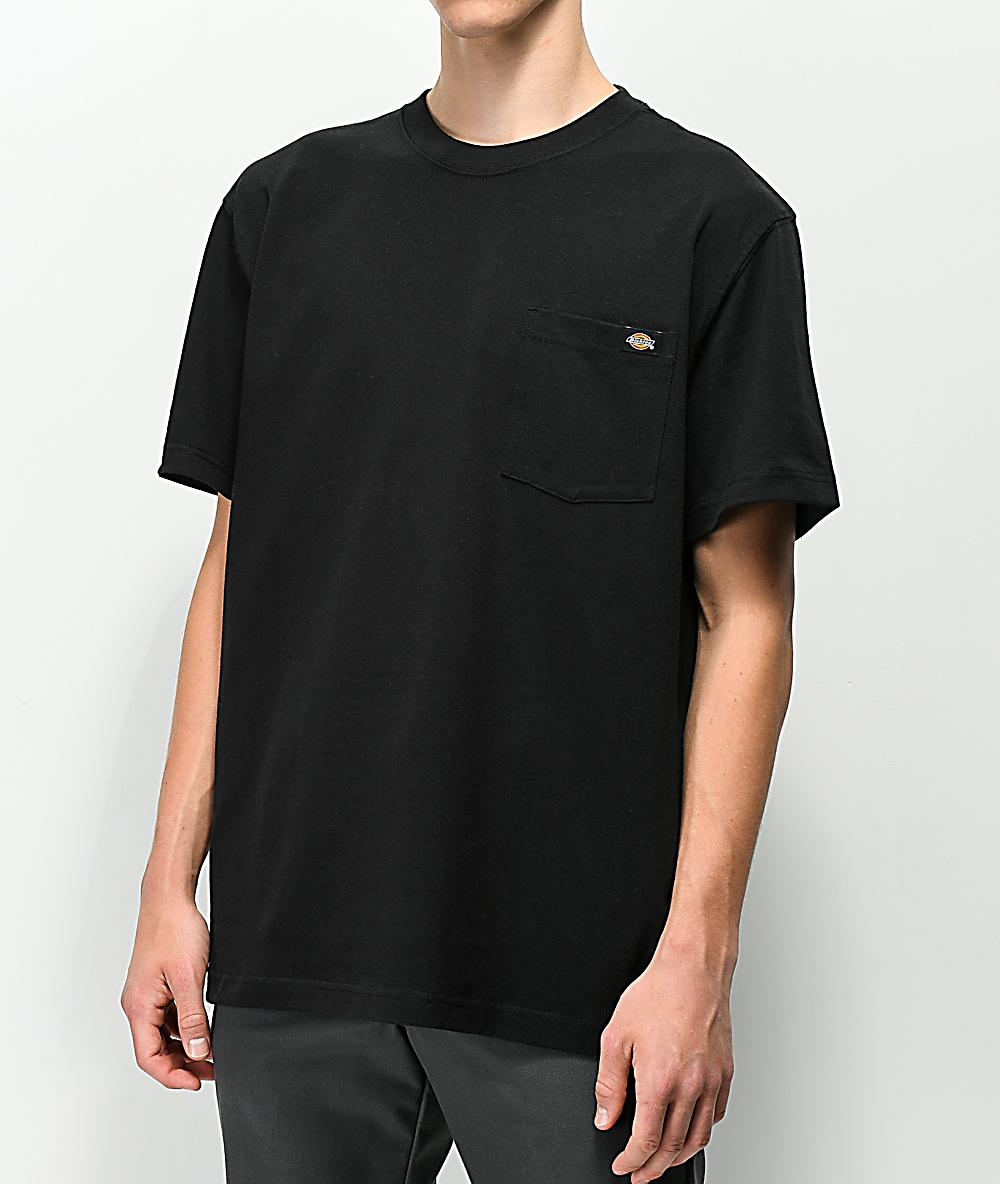 c59a2102 Dickies Black Heavyweight Pocket T-Shirt | Zumiez