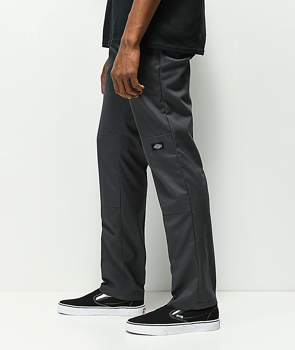 e40fb7077bf Dickies Double Knee Charcoal Work Pants