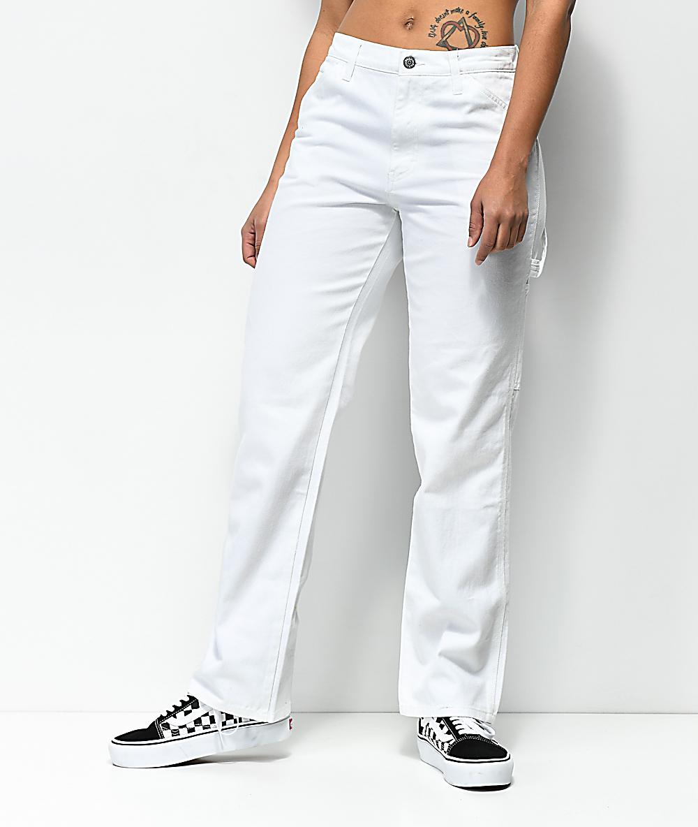 02796d57d35 Dickies White Carpenter Pants   Zumiez