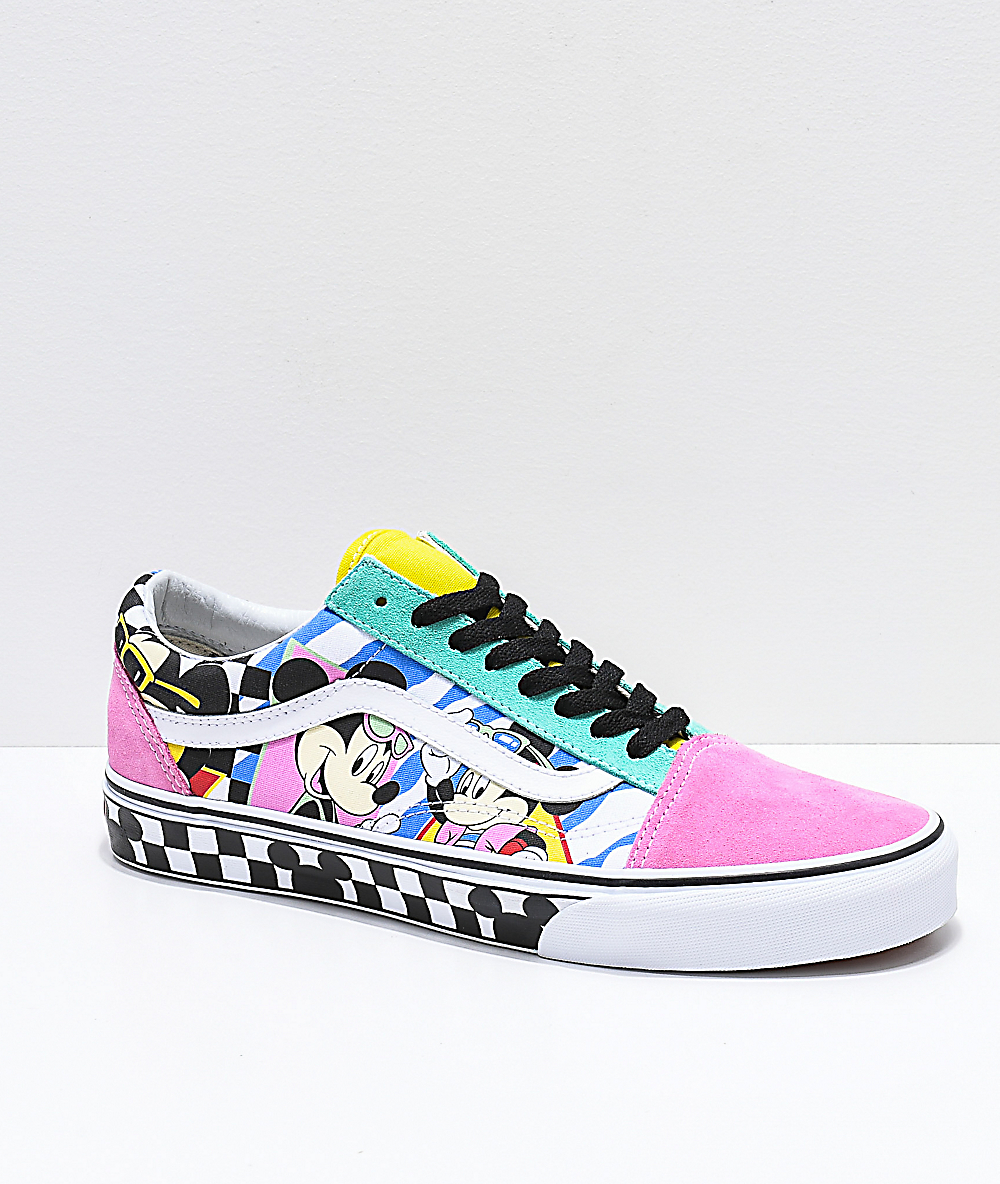 4fad9a3297e19d Disney by Vans Old Skool 80's Mickey Skate Shoes | Zumiez