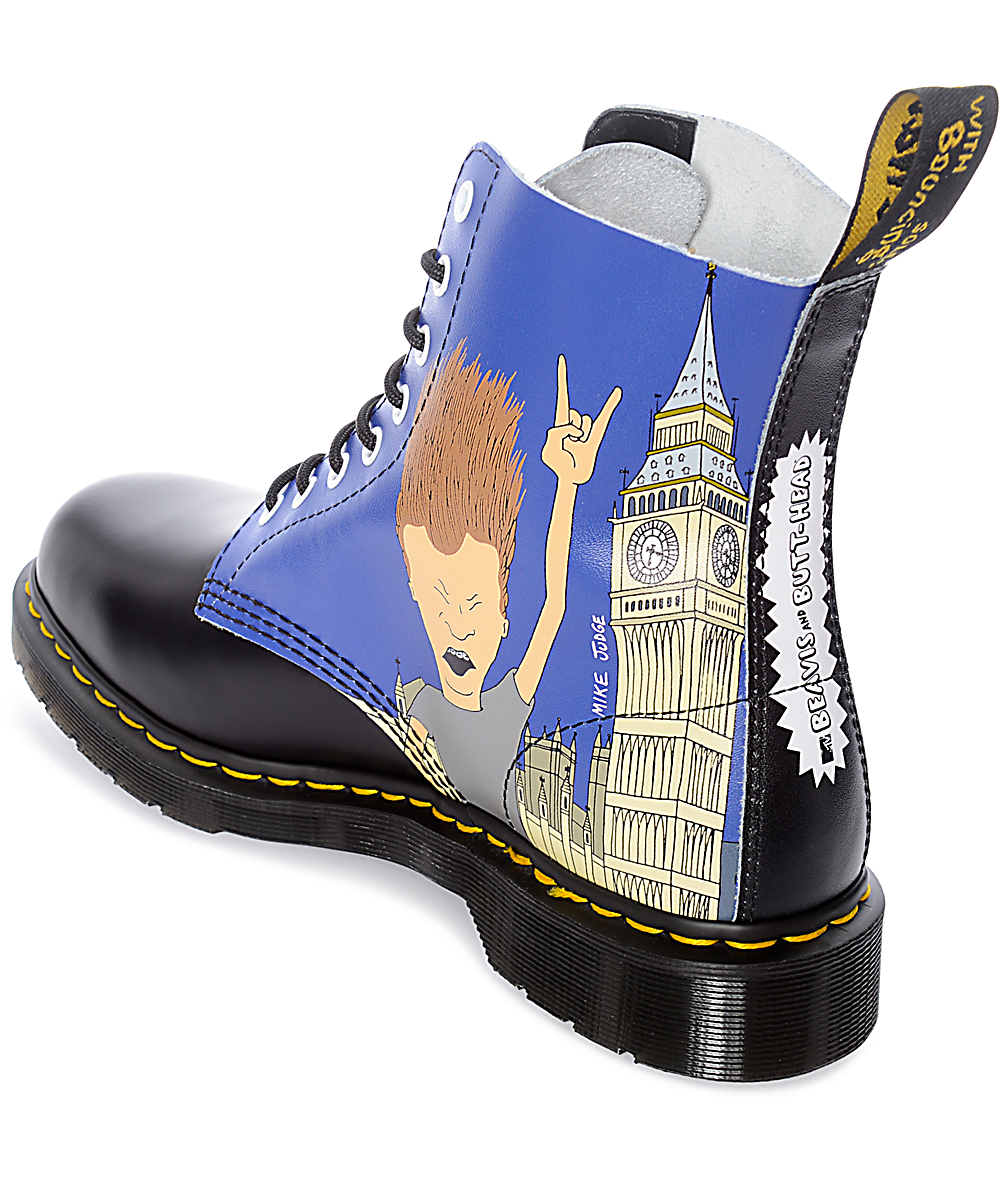0484df873cef2 Dr. Martens Pascal Beavis and Butthead Black & Blue Boots | Zumiez