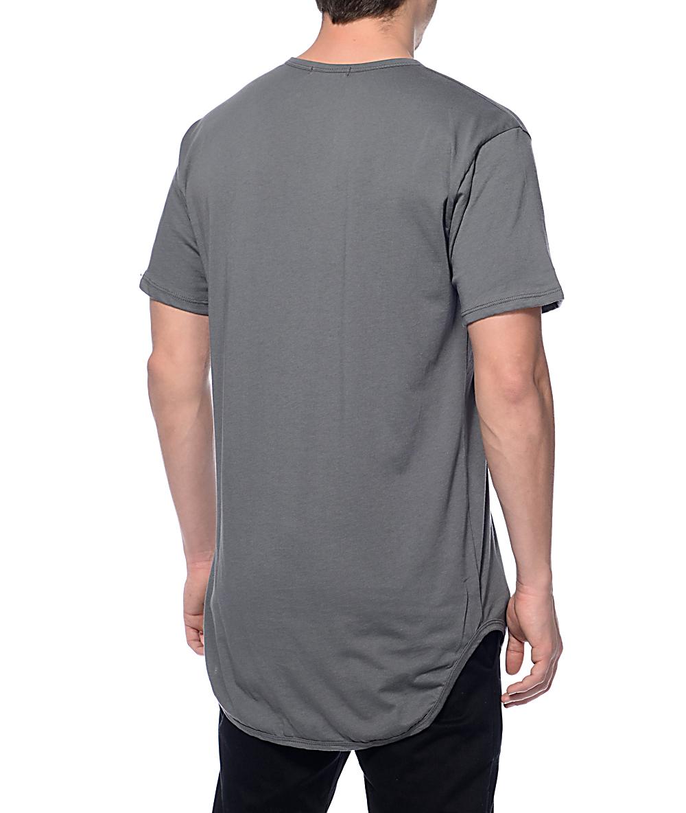 06918273 EPTM. Elongated Fade Charcoal Long T-Shirt | Zumiez