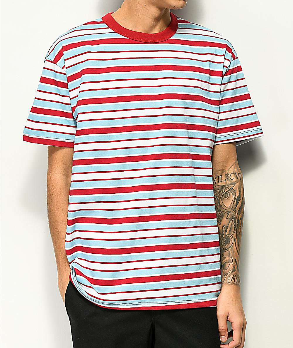 d7bb0a6b20 EPTM. Light Blue & Dark Red Stripe T-Shirt