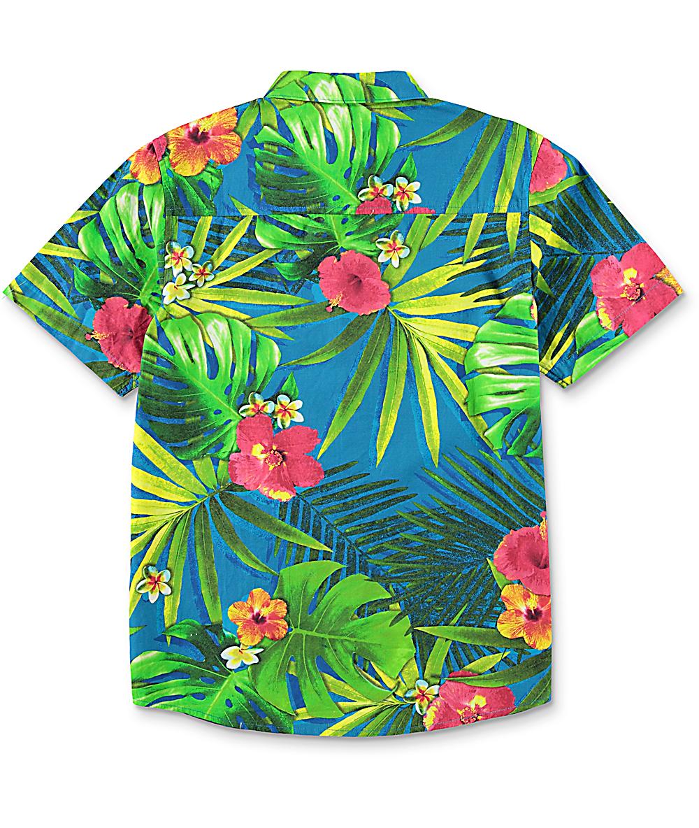 01f565e49 Empyre Boys Broch Hawaiian Short Sleeve Button Up   Zumiez