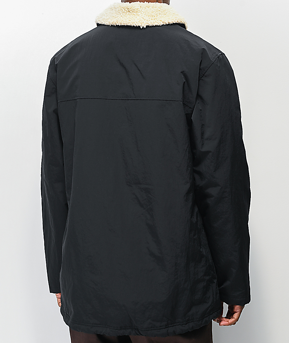 Empyre Elliot Sherpa Black Coaches Jacket