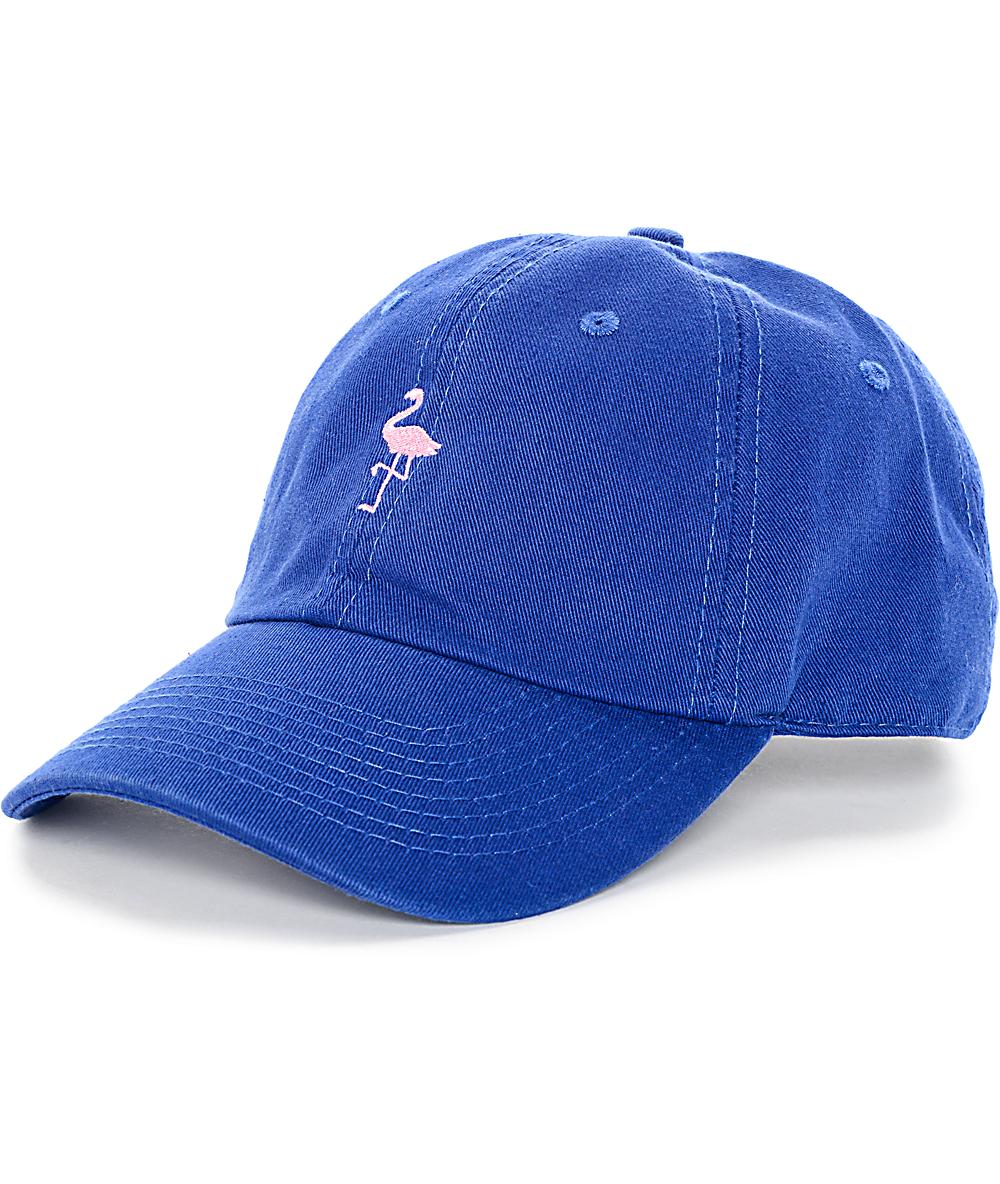 1903a570 Empyre Fla Bingo Royal Blue & Pink Baseball Hat | Zumiez
