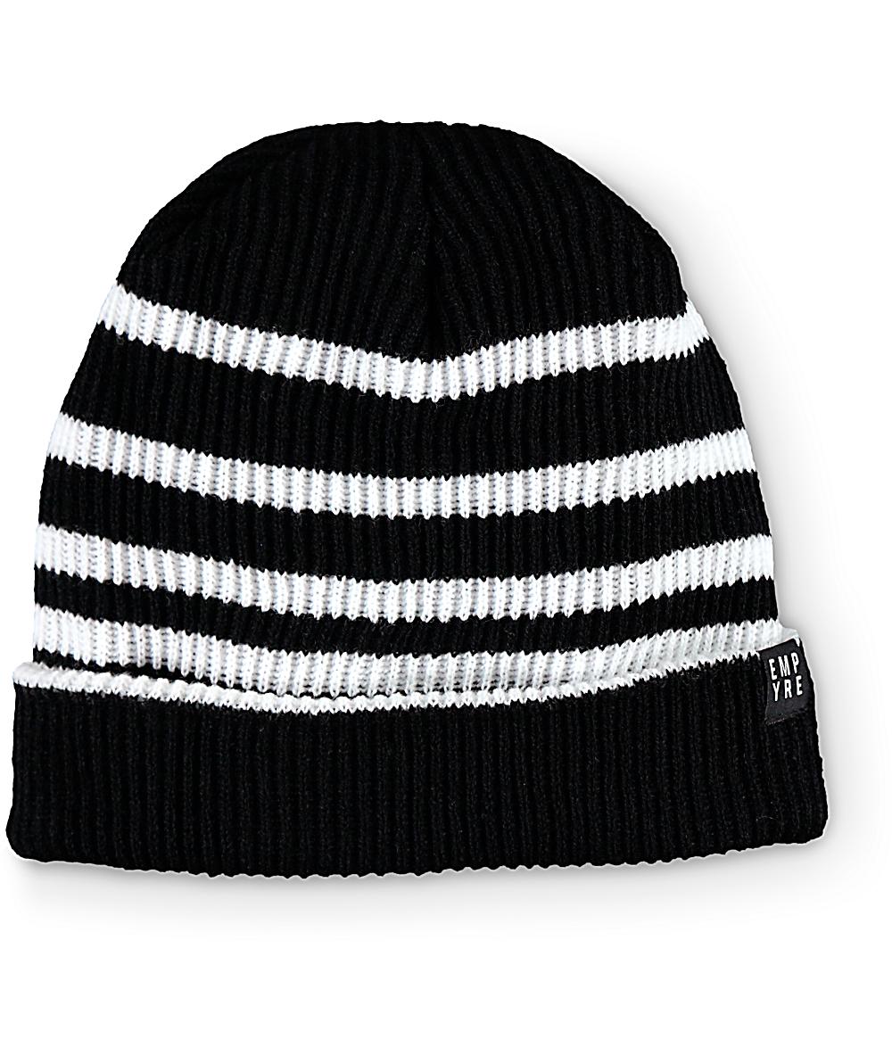 40088993f Empyre Foster Black & White Stripe Beanie