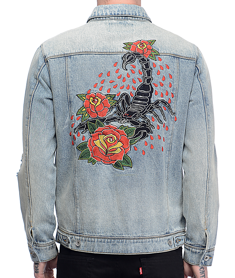 d0077cc96b Empyre Karl Embroidered Denim Jacket