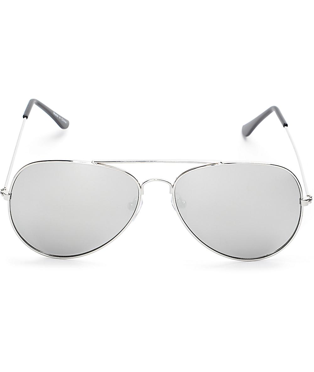 c87e95d035ea Empyre Opie Silver Aviator Sunglasses   Zumiez