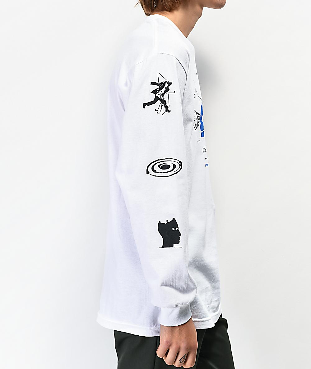 Empyre Optical Illusion White Long Sleeve T-Shirt