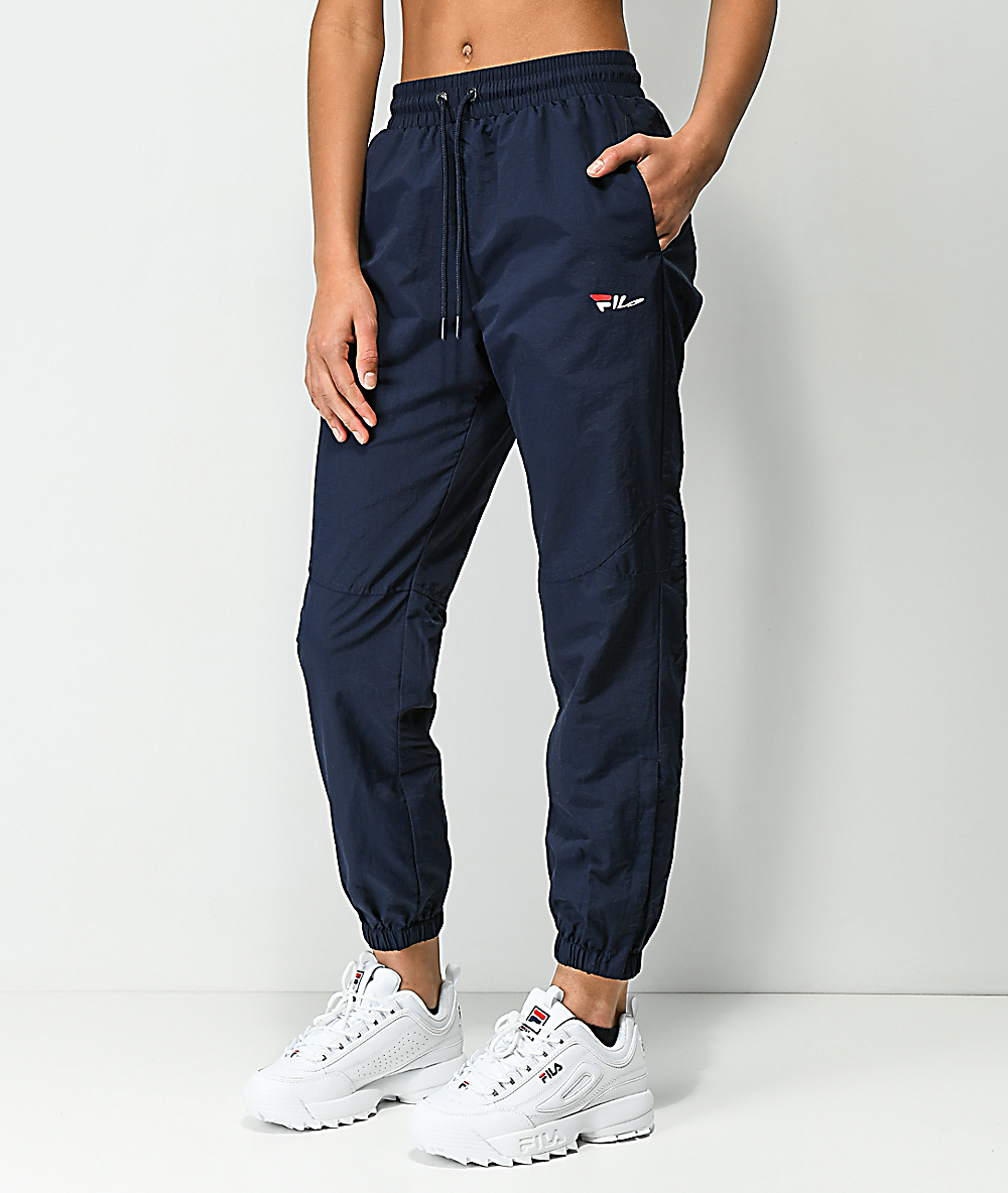 limited quantity biggest discount shop for luxury FILA Diana Navy Cutout Zipper Track Pants