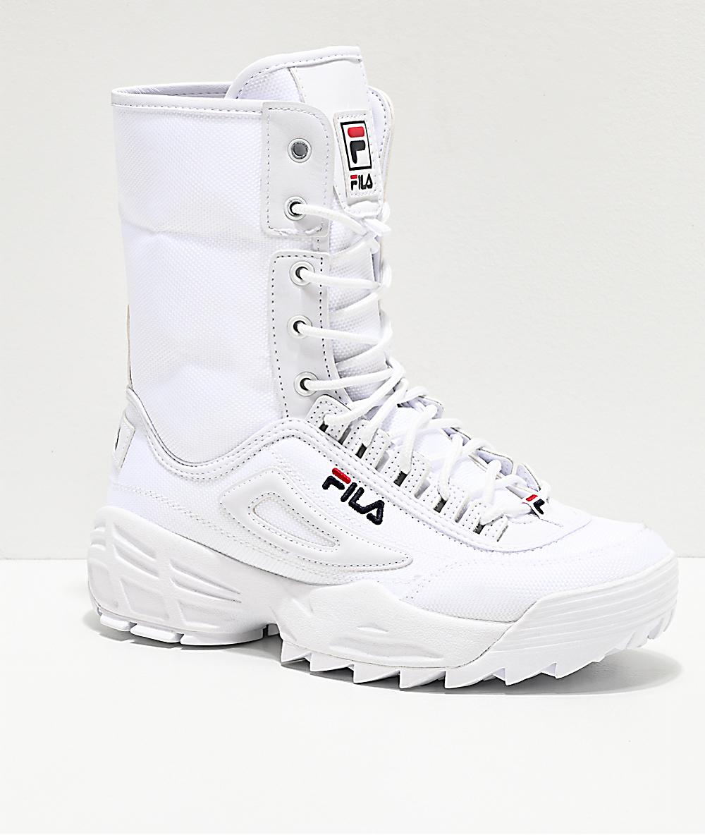 FILA Disruptor Ballistic botas blancas