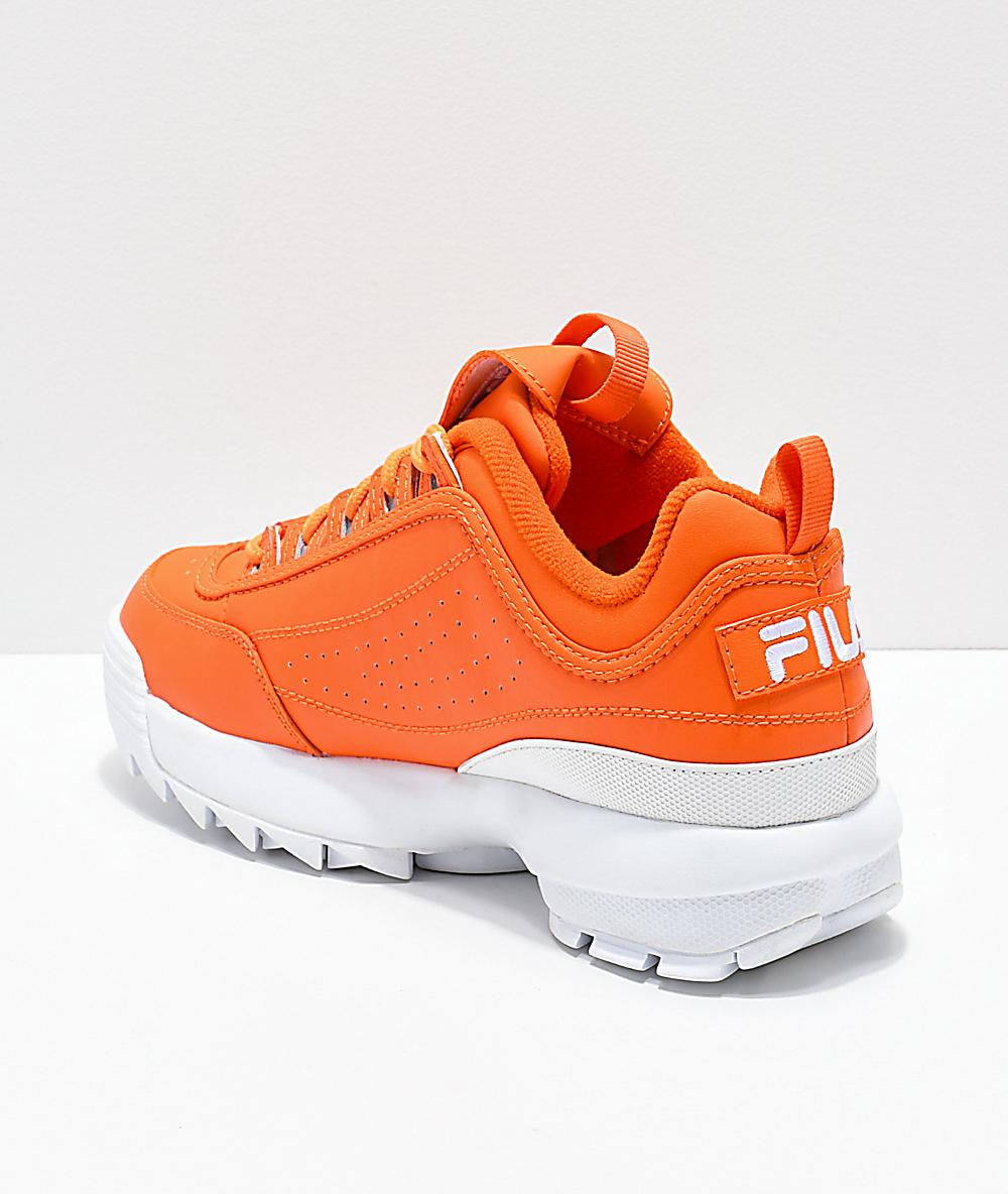 Fila Disruptor Ii Orange Shoes DHW2IE9Y