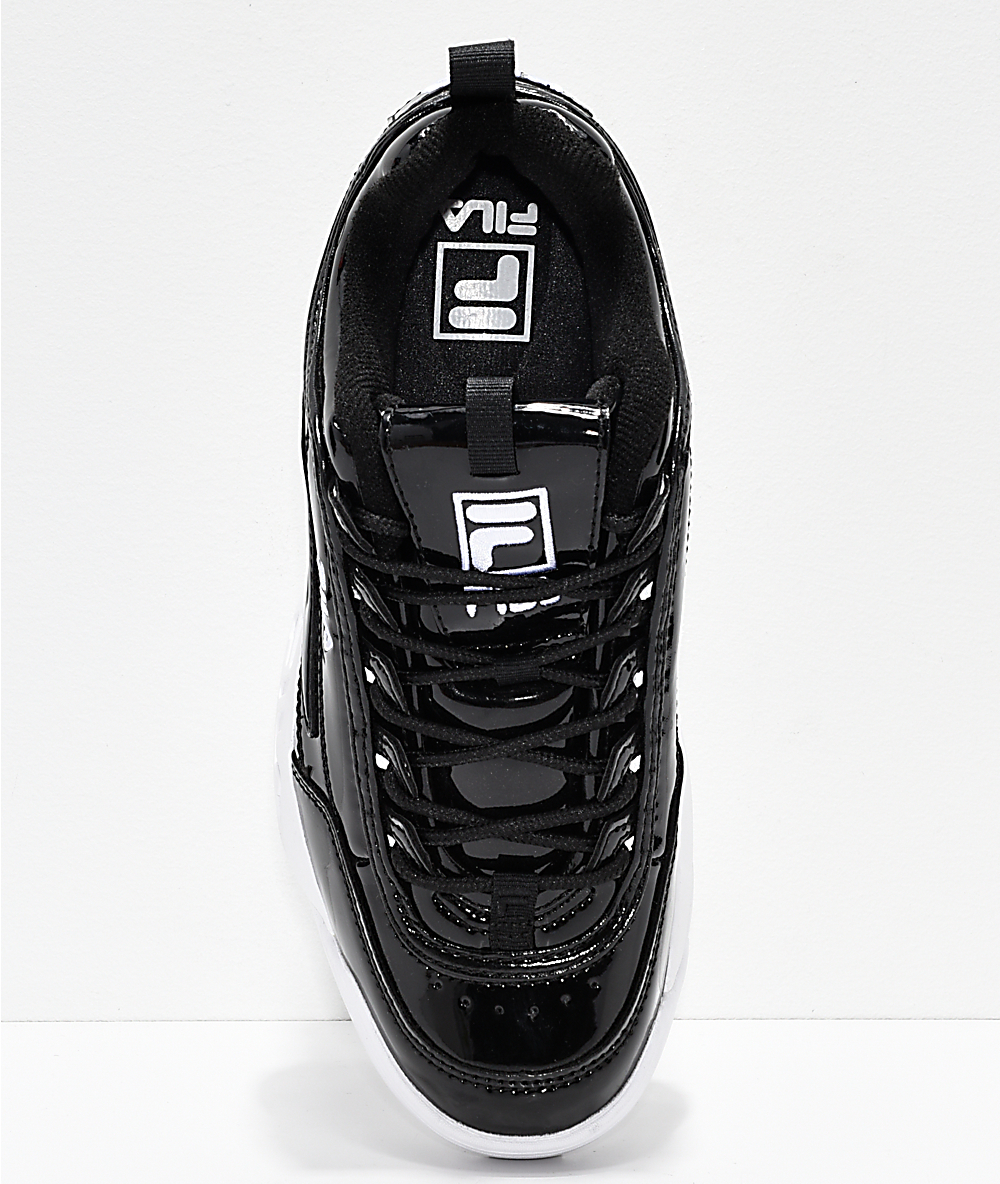 fila patent leather sneakers
