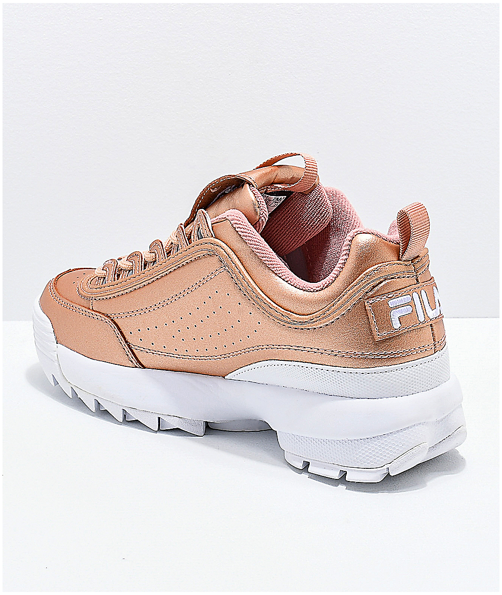 FILA Disruptor II Premium Rose Gold & White Shoes